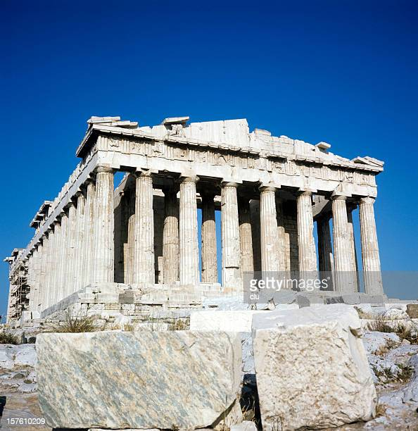Athens Acropolis Parthenon on blue sky