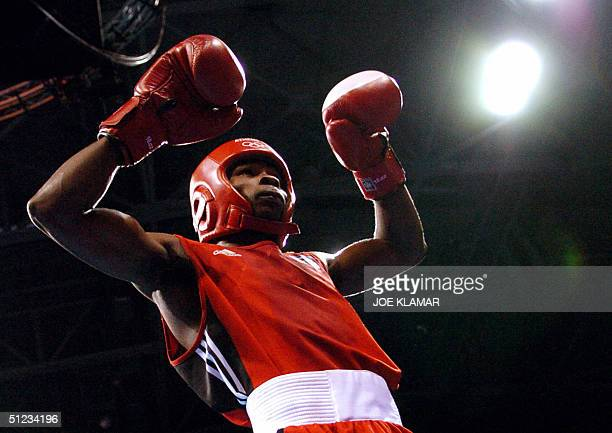 Guillermo Rigondeayx Ortiz of Cuba prepares for the start of a round against Worapoj Petchkoom of Thailand during their bantamweight boxing final of...