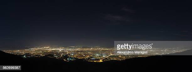 Athens night panorama
