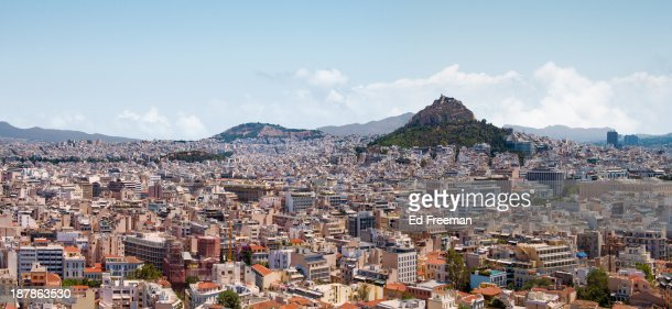 Athens Panorama View from the Acropolis