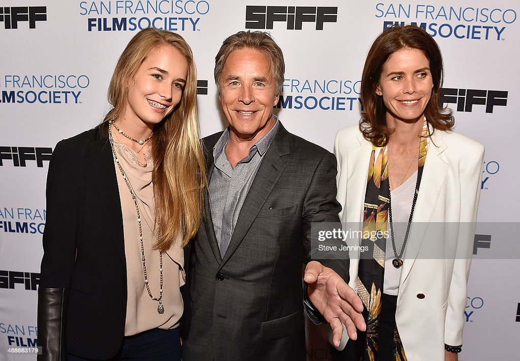 Atherton Grace Johnson, <a gi-track='captionPersonalityLinkClicked' href=/galleries/search?phrase=Don+Johnson&family=editorial&specificpeople=211250 ng-click='$event.stopPropagation()'>Don Johnson</a> and Kelley Phleger attends the 57th San Francisco International Film Festival on closing night for the Premiere of 'Alex of Venice' at Castro Theater on May 8, 2014 in San Francisco, California.