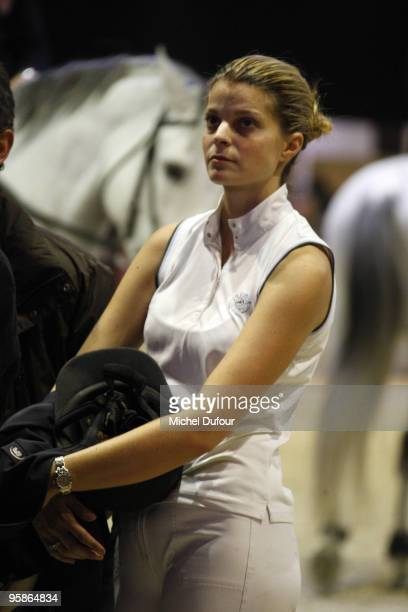 Athina Onasis rides and competes during the Gucci Masters Competition at Paris Nord Villepinte on December 11 2009 in Paris France