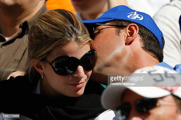 Athina Onassis and her husband Alvaro Alfonso de Miranda Neto attending the Monte Carlo Rolex Masters on April 21 2012 in MonteCarlo Monaco