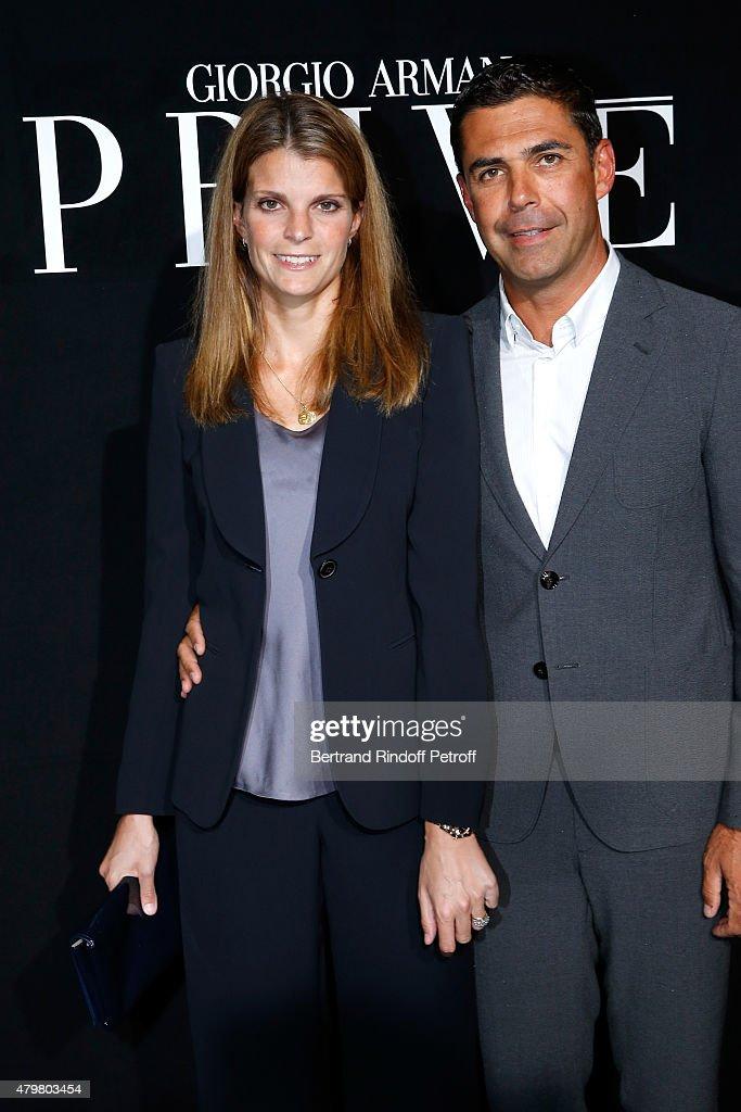 Athina Onassis and her husband Alvaro de Miranda Neto attend the Giorgio Armani Prive show as part of Paris Fashion Week HauteCouture Fall/Winter...
