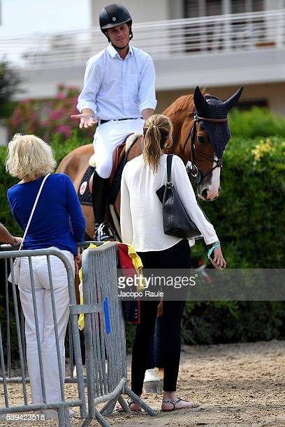 Athina Onassis and Pedro Veniss attend International Longines Global Champion Tour Day 3 on June 11 2016 in Cannes France