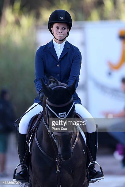 Athina Onassis competes at The Longines Athina Onassis Horse Show on June 4 2015 in SaintTropez France