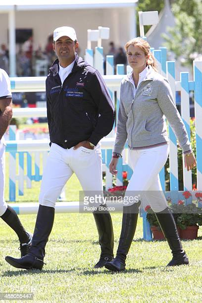 Athina Onassis de Miranda and Husband Doda de Miranda attend Global Champion Tour on May 3 2014 in Madrid Spain