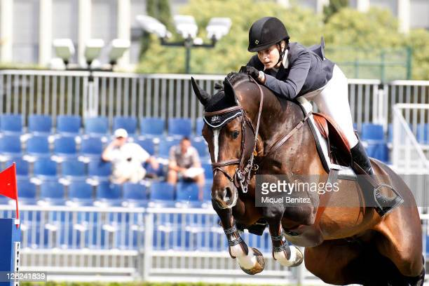 Athina Onassis de Miranda attends the CSIO Barcelona 100th International Show Jumping Competition at the Real Club de Polo on September 23 2011 in...