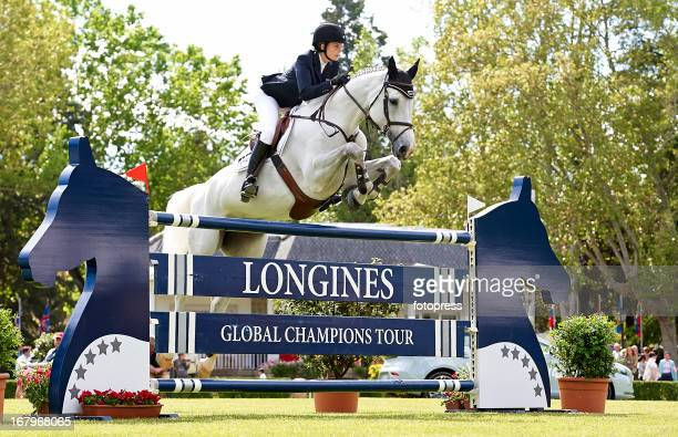 Athina Onassis de Miranda in action during the CSI 5 de Madrid / Longines Global Champions Tour 2013 at the Club de Campo Villa de Madrid on May 03...