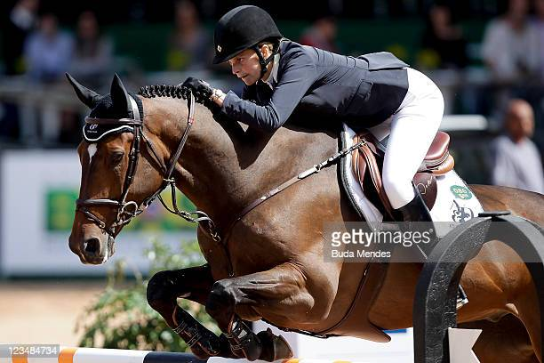 Athina Onassis de Miranda in action on the horse AD Welcome Du Petit Vivier during the Internacional Jumping Competition as part of the Athina...