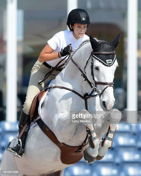 Athina Onassis de Miranda participtaes in FTI Conis sighted at the sulting Winter Equestrian Festival at Palm Beach International Equestrian Center...