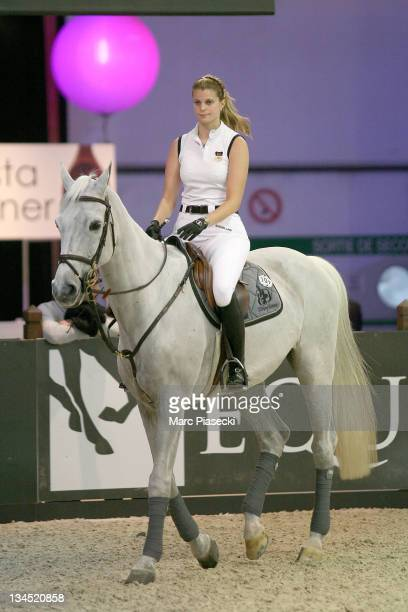 Athina Onassis de Miranda rides and competes during the International Gucci Masters competition on December 2 2011 in Villepinte France