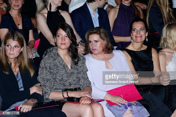 Athina Onassis Grand Duchess Maria Teresa de Luxembourg with her daughter Princess Alexandra de Luxembourg and Roberta Armani attend the Giorgio...
