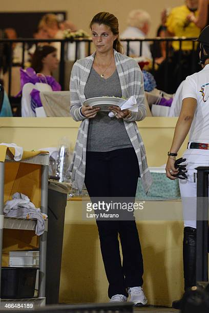 Athina Onassis is sighted at Palm Beach International Equestrian Center on February 1 2014 in Wellington Florida