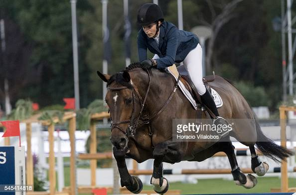 Athina Onassis of Greece and horse Contanga during the first day of Longines Global Champion Tour on July 7 2016 in Cascais Portugal