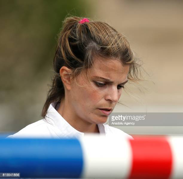 Athina Onassis of Greece competes during the Longines Global Champions Tour of Chantilly near Paris France on July 16 2017