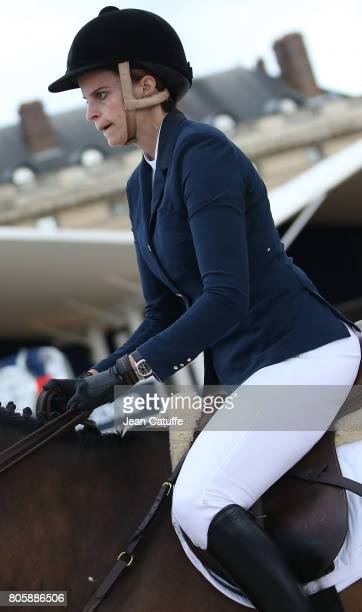 Athina Onassis of Greece during the CSI5 Global Champions League event during the 2017 Paris Eiffel Jumping on June 30 2017 in Paris France