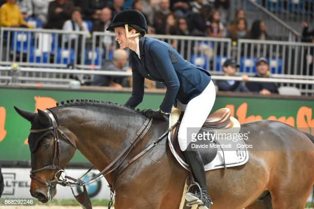 Athina Onassis of Greece riding MHS Going Global during Longines FEI World Cup presented by BMW on October 29 2017 in Verona Italy