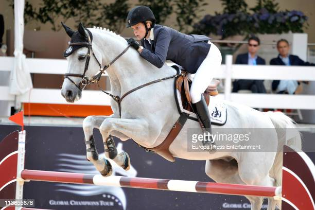Athina Onassis rides during the Global Champions Tour 2011 on May 8 2011 in Valencia Spain