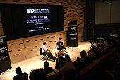 Athina Rachel Tsangari and Eric Kohn attend the 53rd New York Film Festival NYFF live with Athina Rachel Tsangari at Elinor Bunin Munroe Film Center...