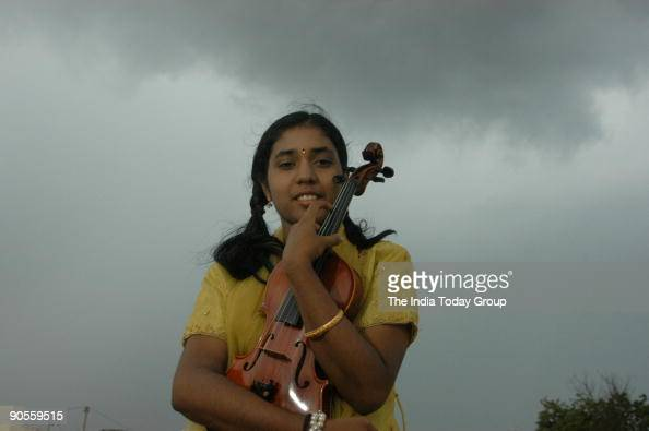 Athira Krishna is an Indian Carnatic violinist at her Mylapore Residence in Chennai Tamil Nadu India