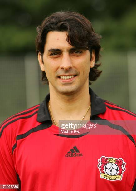 Athirson of Leverkusen poses during the First Bundesliga Team Presentation of Bayer 04 Leverkusen at the Training Ground on July 10 2006 in...