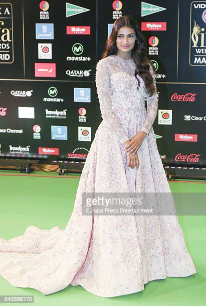 Athiya Shetty attends IIFA Awards green carpet during the 17th edition of IIFA Awards the International Indian Film Academy Awards at Ifema on June...
