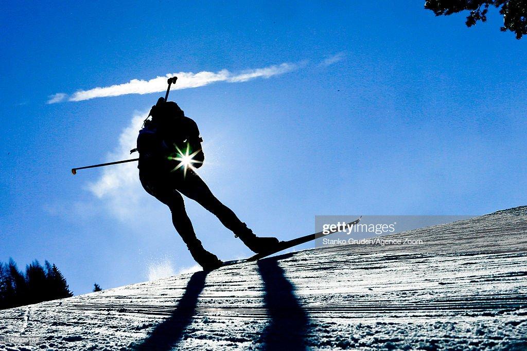 Athlet competes during the IBU Biathlon World Cup Men's Relay on December 09, 2012 in Hochfilzen, Austria.