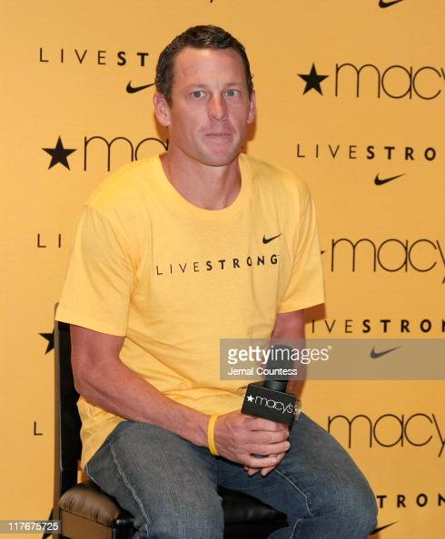 Athlete and Cancer Awareness Spokesperson Lance Armstrong appears at Macy's Herald Square on November 2 2007 in New York City Lance Armstrong's...