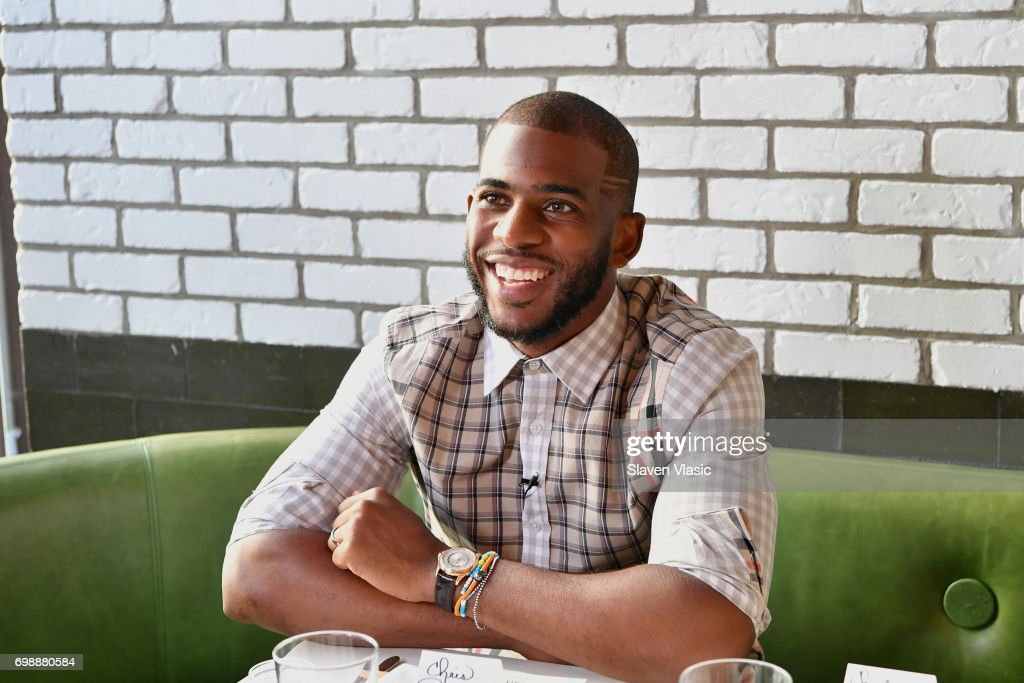 Athlete and designer Chris Paul attends the FIVE FOUR x Chris Paul Launch Dinner at Catch on June 20, 2017 in New York City.