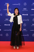 Athlete and Laureus Sportsperson of the year with a Disability award nominee Liu Cuiping of China attends the Laureus World Sports Awards 2016 on...