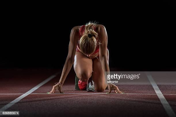 Athlete at starting line