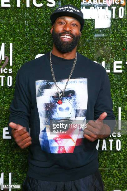 Athlete Baron Davis attends the launch of Fabletics Capsule Collection at the Beverly Hills Hotel on May 10 2017 in Los Angeles California