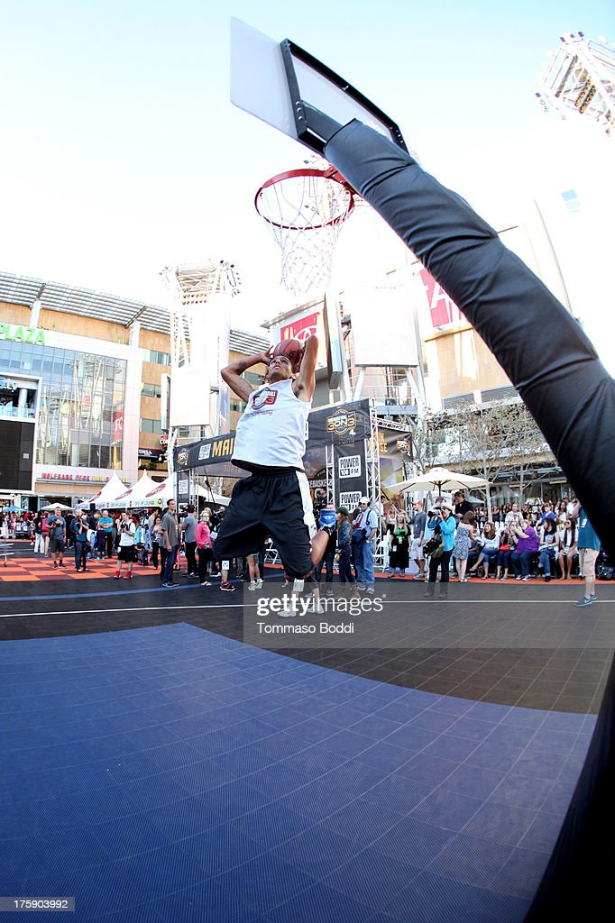 Athlete Bracin Skywalker attends the 5th annual Nike basketball 3ON3 tournament presented by NBC4 southern california held at L.A. LIVE on August 9, 2013 in Los Angeles, California.