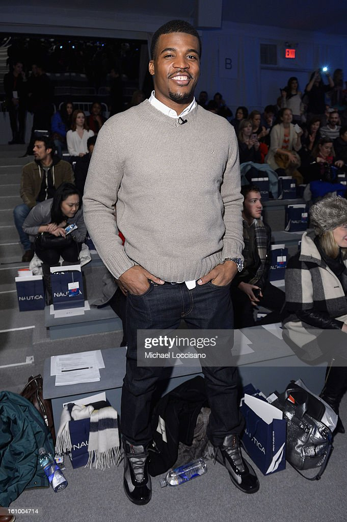 Athlete Brad Smith attends the Nautica Men's Fall 2013 fashion show during Mercedes-Benz Fashion Week at The Stage at Lincoln Center on February 8, 2013 in New York City.