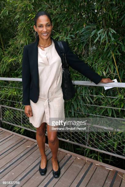 Athlete Christine Arron attends the 2017 French Tennis Open Day Seven at Roland Garros on June 3 2017 in Paris France