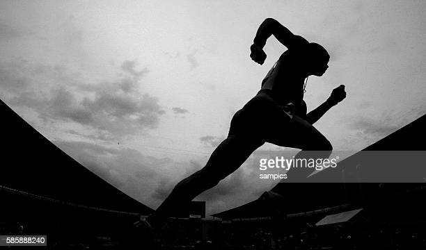 Athlete during the 400m of the 11th IAAF World Championships in Athletics at Nagai stadium of Osaka Japan