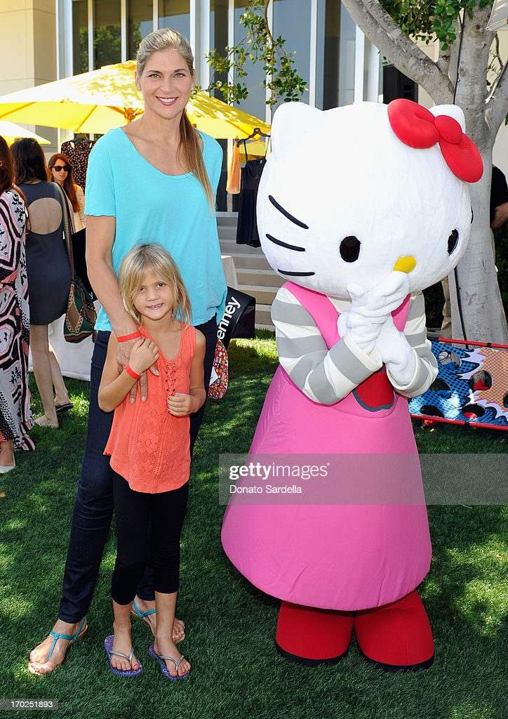 Athlete Gabrielle Reece and Brody Jo Hamilton attend the 1st Annual Children Mending Hearts Style Sunday on June 9, 2013 in Beverly Hills, California.