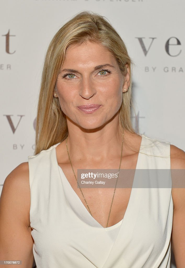 Athlete <a gi-track='captionPersonalityLinkClicked' href=/galleries/search?phrase=Gabrielle+Reece&family=editorial&specificpeople=224806 ng-click='$event.stopPropagation()'>Gabrielle Reece</a> attends the opening of the Velvet by Graham & Spencer store on June 6, 2013 in Brentwood, California.