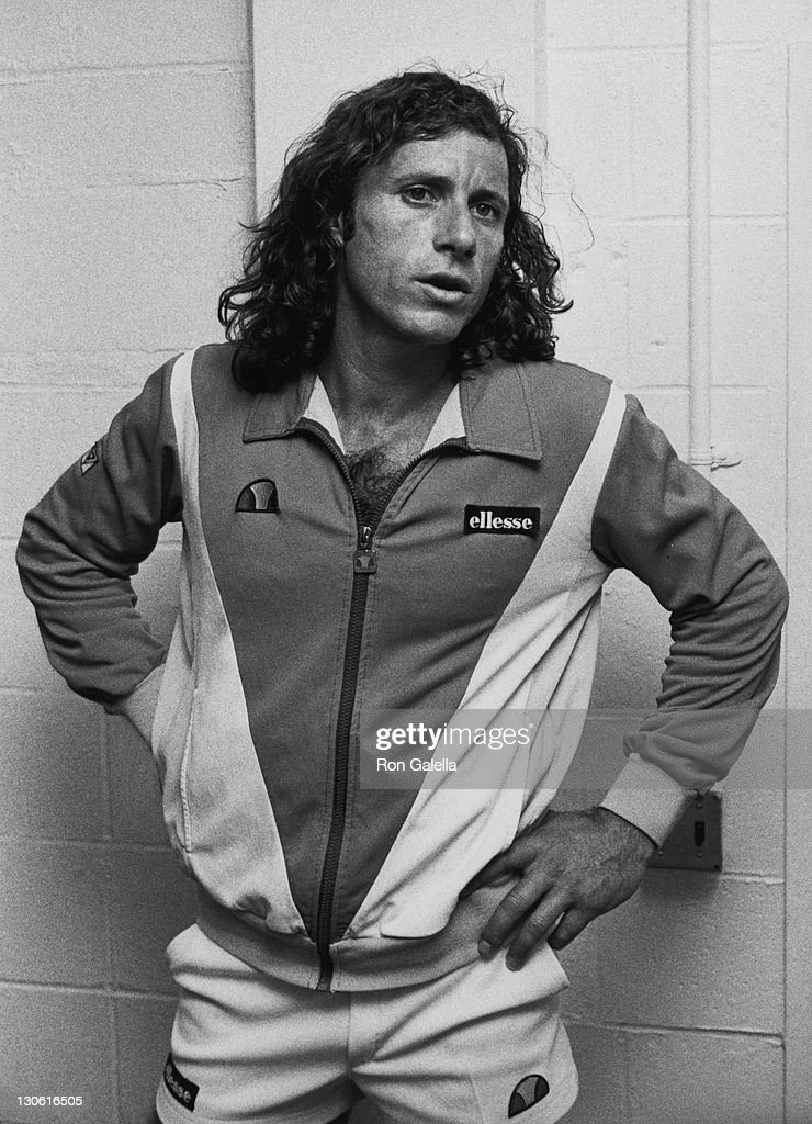 Athlete <a gi-track='captionPersonalityLinkClicked' href=/galleries/search?phrase=Guillermo+Vilas&family=editorial&specificpeople=605489 ng-click='$event.stopPropagation()'>Guillermo Vilas</a> attends U.S. Open Tennis Tournament on September 5, 1982 at Flushing Meadows Park in New York City.