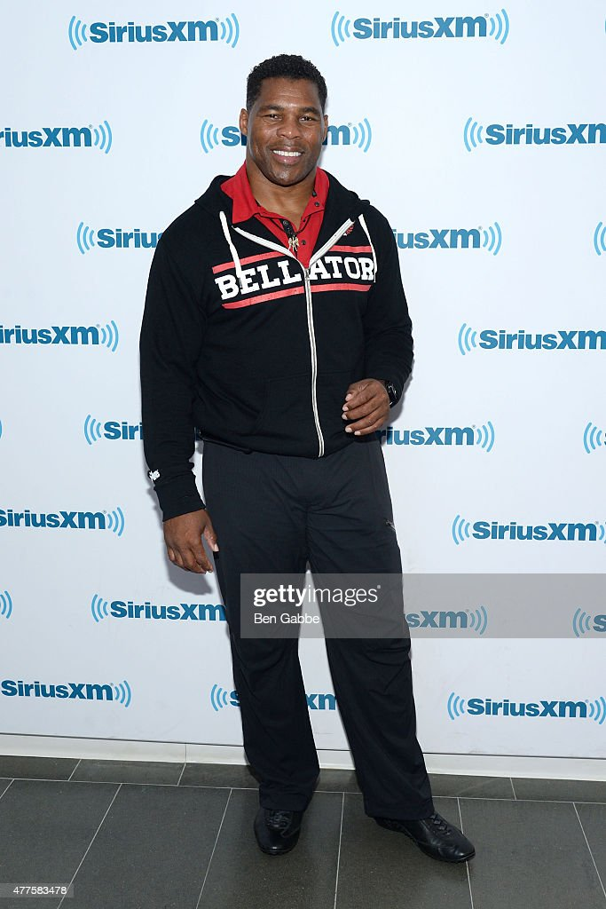 Athlete Herschel Walker visits at SiriusXM Studios on June 18, 2015 in New York City.