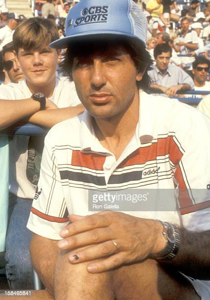 Athlete Ilie Nastase attends the 1985 US Tennis Open on August 31 1985 at Flushing Meadows Park Tennis Stadium in Queens New York