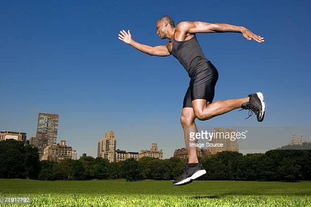 Athlete in central park