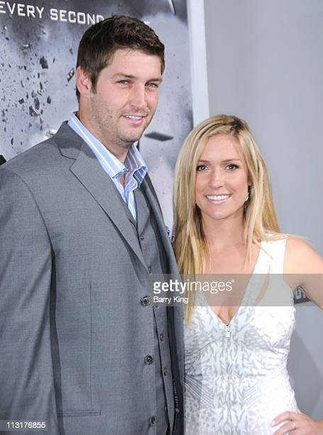 Athlete Jay Cutler and actress Kristin Cavallari arrive at the Los Angeles premiere of 'Source Code' held at ArcLight Cinemas Cinerama Dome on March...