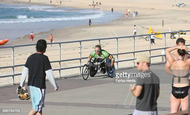 Athlete John McLean during at training session at Bondi Beach 10 November 2006 SHD SPORT Picture by SIMON ALEKNA