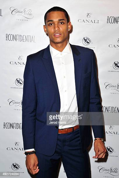 Athlete Jordan Clarkson arrives at Los Angeles Confidential Celebrates its Annual Men's Issue featuring LA Athletes at The Los Angeles Athletic Club...