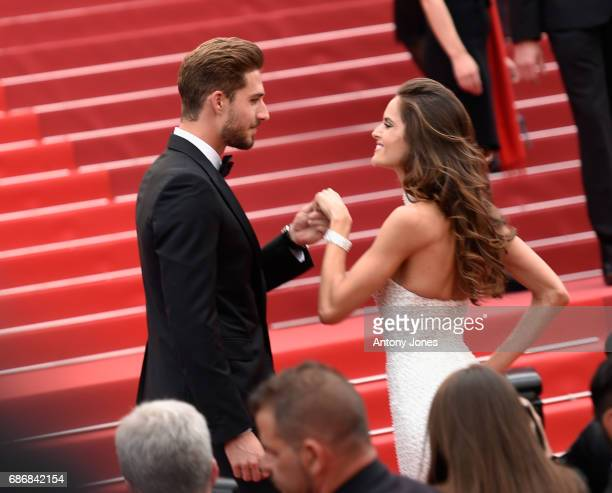 Athlete Kevin Trapp and model Izabel Goular attend the 'The Killing Of A Sacred Deer' screening during the 70th annual Cannes Film Festival at Palais...