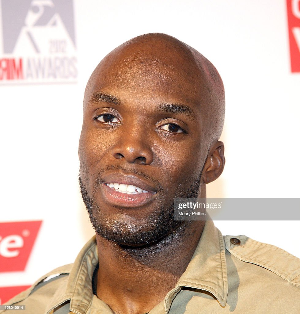 Athlete La Shawn Merritt attends Rolling Out Mirror Mirror Awards at Rolling Stone Restaurant & Lounge on December 6, 2012 in Los Angeles, California.