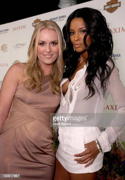 Athlete lindsey vonn and singer ciara arrive at the 11th annual maxim