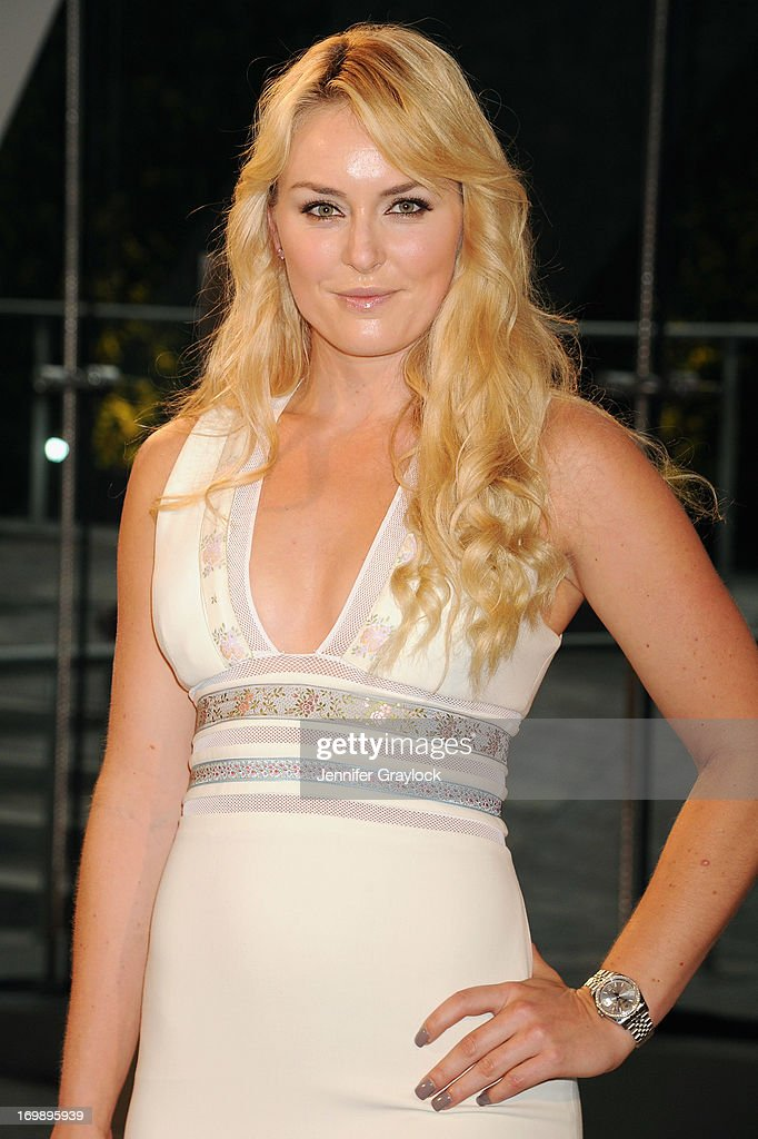 Athlete <a gi-track='captionPersonalityLinkClicked' href=/galleries/search?phrase=Lindsey+Vonn&family=editorial&specificpeople=4668171 ng-click='$event.stopPropagation()'>Lindsey Vonn</a> attends 2013 CFDA FASHION AWARDS underwritten by Swarovski at Lincoln Center on June 3, 2013 in New York City.